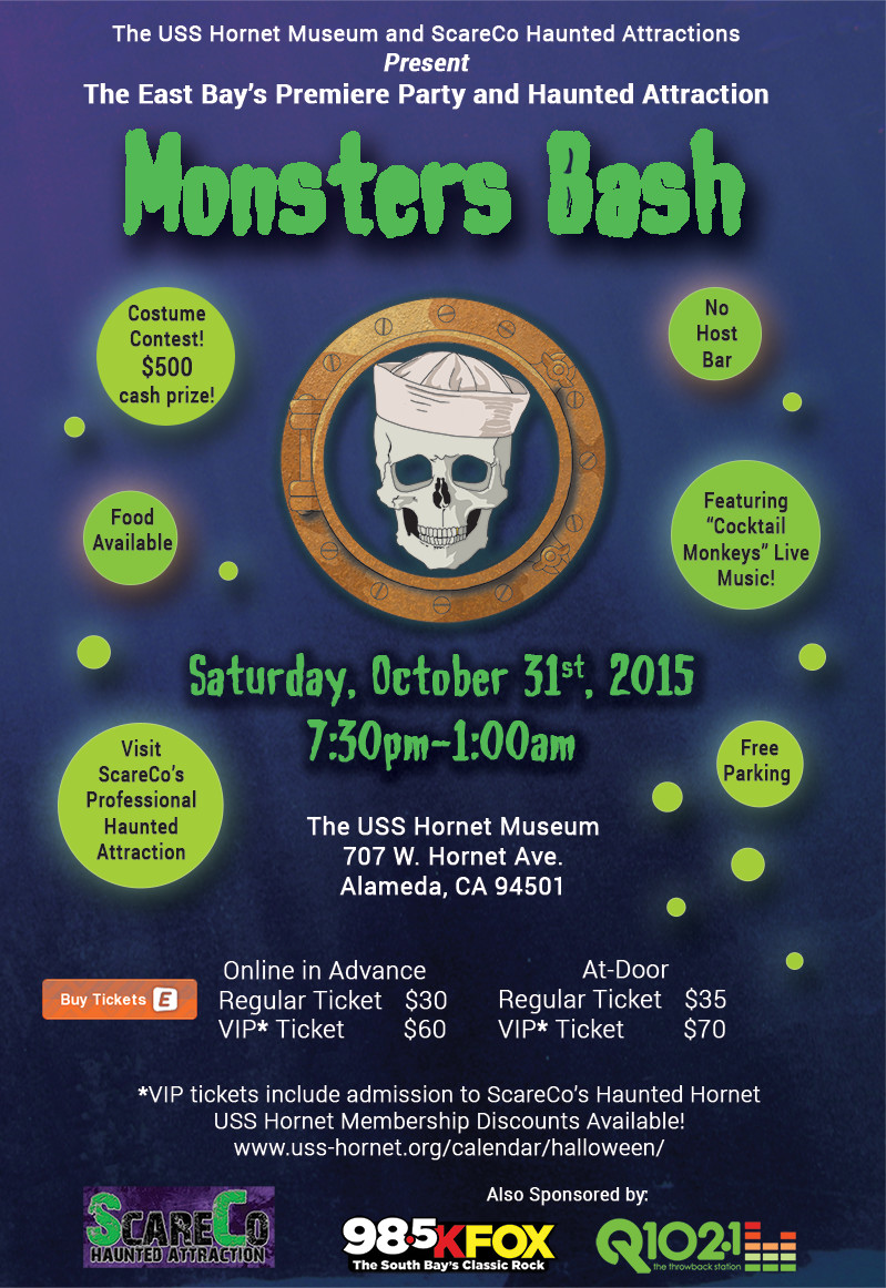 Upcoming Events – Monsters Bash – USS Hornet Museum