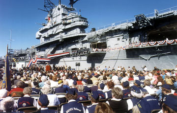 The grand opening of the USS Hornet Museum.