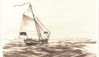 The first Hornet, a sloop that sailed from 1775-1777.