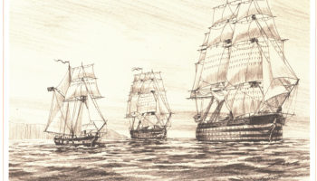 The second Hornet, a sloop that served from 1805-1806.