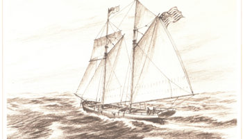 The fourth Hornet, a schooner that sailed from 1813-1820