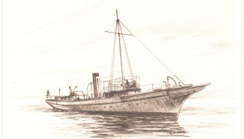 The sixth Hornet was a yacht purchased to fight in the Spanish-American War and sailed from 1890-1910.