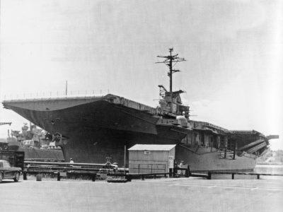 CVS-12's last day in the Navy.