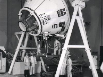 NASA testing the Apollo Command Module design.