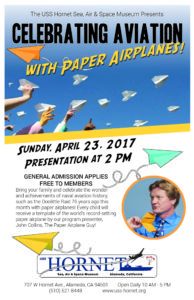 2017-04--DoolittlePaper Airplanes-Poster