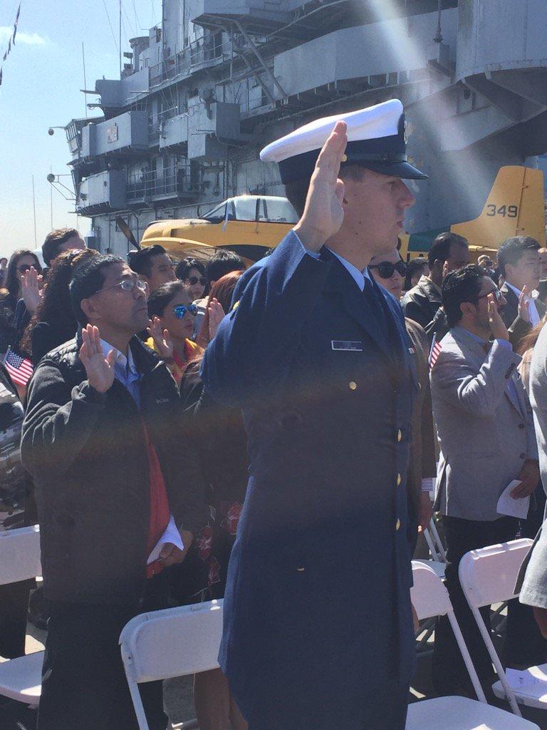 USCIS Naturalization Ceremony – USS Hornet Museum